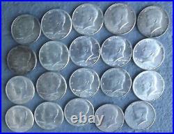 Full Roll 1964 Kennedy Half Dollars, 90% Silver