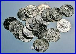 GEM BU Roll of (20) 1964 90% Silver Kennedy Half Dollars