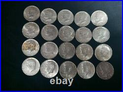 Kennedy Half Dollar Lot of 20 1964 and Mint Marks! All 90% Silver