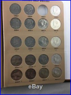 Kennedy Half Dollar Set In Dansco Album,'incomplete' 1964-2007 P&d 59 Coins