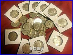 Kennedy Half Dollars 1964 90% Silver Coin Lot of 10 Coins Circulated