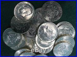 LOT of (20) High Quality 1964 90% SILVER KENNEDY HALF DOLLAR COINS AU Condition