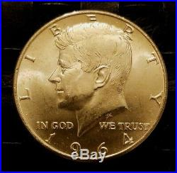 Lot of 200 1964KENNEDY HALFS, Gem BU+, 90% Silver