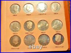 Lot of 80-Silver/Clad Kennedy Halves 1964-1989+-Unc & Proof /Dansco Album #1021