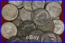 MAKE OFFER 4 Troy Ounces 1964 Kennedy Half Dollars 90% Silver Junk Coins Bullion