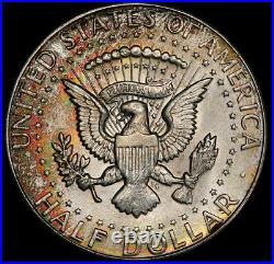 MS64 1964 50C Kennedy Silver Half Dollar, PCGS Secure- Pretty Rainbow Toned