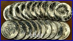 Original GEM BU Roll of 20 1964 Kennedy Half Dollars