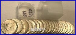 ROLL of 20 BU 1964 Kennedy 90% silver half dollar coins