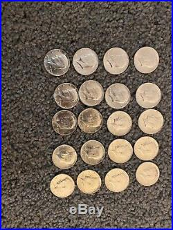 Roll Of 20 $10 Face Value 90% Silver 1964 Kennedy Half Dollars Uncirculated