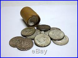 Roll Of 20 Circulated, Assorted 1964 Kennedy Half Dollars 90% Silver