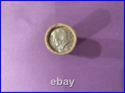 Roll Of 40 OBW Kennedy Half Dollars Dated 1965-1969 40% Silver Random Years b5a