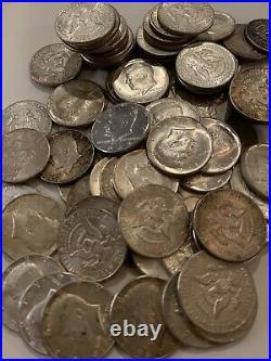 Roll Of Twenty (20) 1964 Kennedy Half Dollars, 90% Silver Circulated
