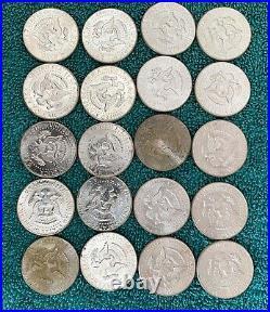 Roll of 20 1964 KENNEDY HALF DOLLARS UNCIRCULATED 90 % SILVER