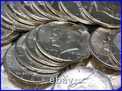 (Roll of 20) 1964 Silver Kennedy Half Dollars 90% 50c UNC/BU #CF ECC&C, Inc