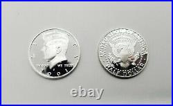 Roll of 20 GEM Deep Cameo S mint Proof Kennedys (90% Silver) Half Dollars 2001