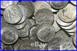 Seven Rolls 40% Silver Kennedy Half Dollars (140 Coins) Lot B24