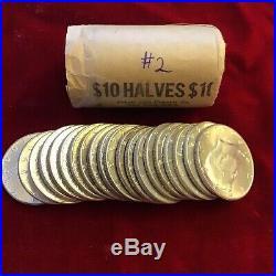 Silver 90% Roll Kennedy Half Dollar 1964 Circ to BU