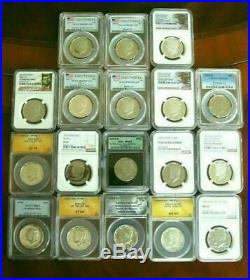 Super Set 261 Kennedy Half Dollars PDSS BU PF Silver PF Rev PF Matte Satin Etc
