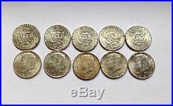 TEN 90% Silver Kennedy Half Dollars $5 Face Value Circulated