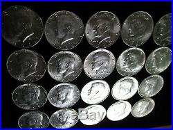 US90% Constitutional Silver 1964 Kennedy Half dollars roll coins AU BU Gold Junk